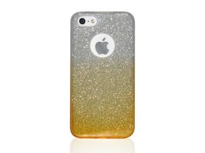 Силиконов Гръб BLING за iPhone 5 / 5S / SE , Златист