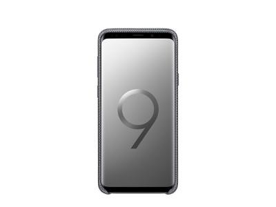 Оригинален Силиконов гръб с Текстилна повърхност за Samsung Galaxy S9 Plus 2018 (G965) , Сив