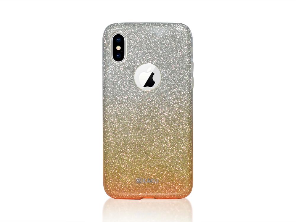 Калъф Гръб BLING KAKU за iPhone X , Златист