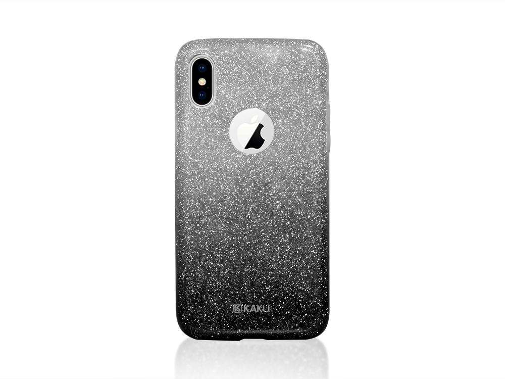 Калъф Гръб BLING KAKU за iPhone X, Черен