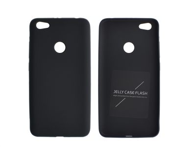 Силиконов Гръб Jelly Case Flash Mat за Xiaomi Redmi Note 5A Prime / Redmi Y1 , Черен