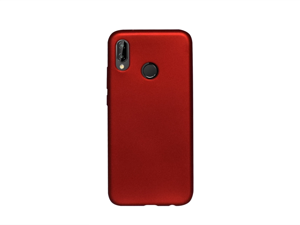 Силиконов Гръб Jelly Case Flash Mat за Huawei P20 Lite, Червен