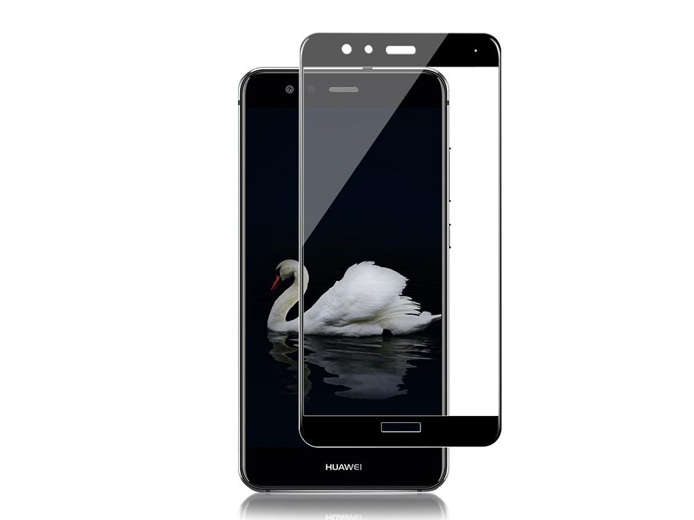 Стъклен протектор 5D Full Curved за Huawei P10 Lite , Черен