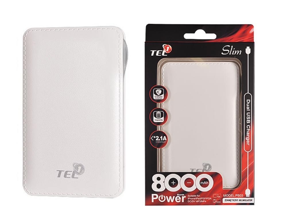 Външна Батерия Power Bank 8000mAh , Бял