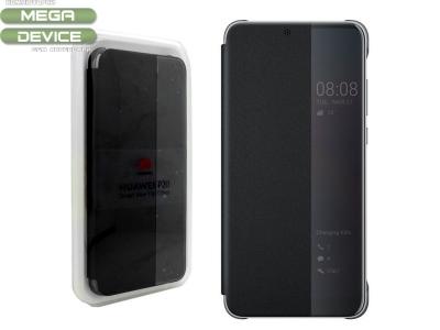 Оригинален Калъф Тефтер View Flip Cover за Huawei P20, Черен