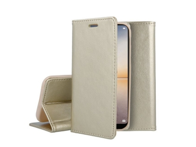 Калъф Тефтер Magnetic за Huawei P20 Lite, Златист