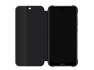 Оригинален Калъф Тефтер View Flip Cover за Huawei P20 Lite , Черен