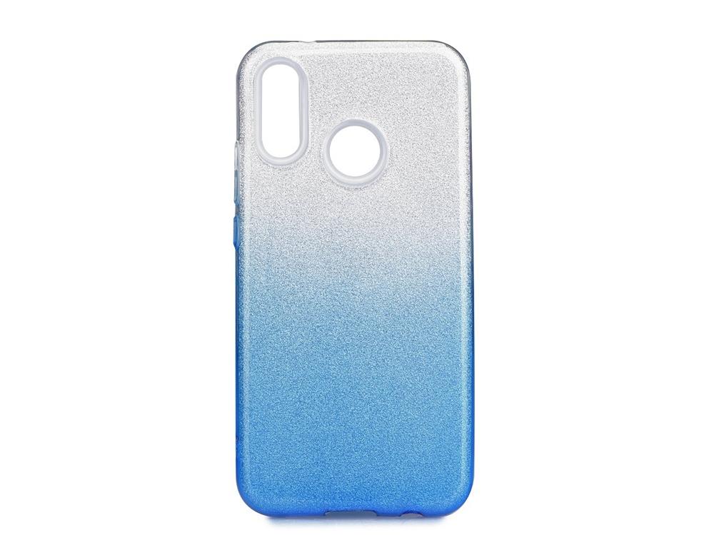 Силиконов Гръб SHINING за Huawei P20 Lite, Сребрист / Син