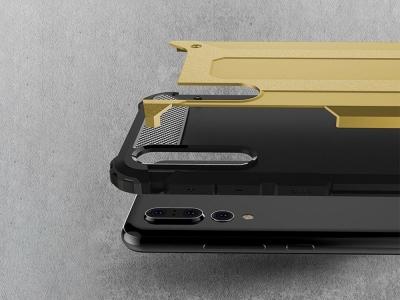 Удароустойчив гръб Armor за Huawei P20 Pro, Златист