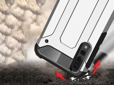 Удароустойчив гръб Armor за Huawei P20 Pro, Сребрист