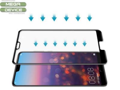 Стъклен Протектор 5D Curved Roar за Huawei P20 Pro, Черен