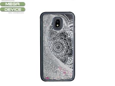 Силиконов Гръб с брокат LIQUID за Samsung Galaxy J3 2017 J330 , Черен