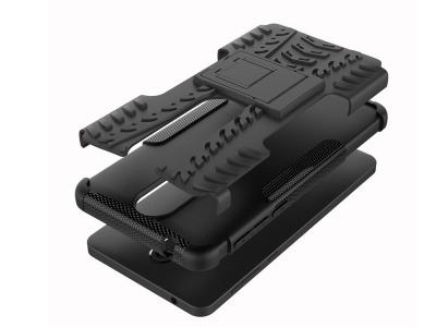 Удароустойчив гръб с поставка Hybrid за Nokia 6 2018 , Черен