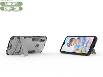 Удароустойчив Калъф с Поставка за Huawei P20 Lite , Сив