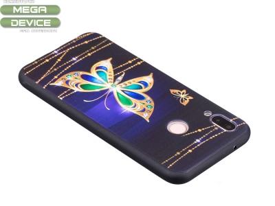 Силиконов Гръб за Huawei P20 Lite, Златна пеперуда