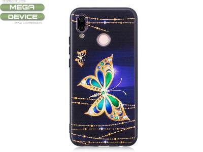 Силиконов Гръб за Huawei P20 Lite - Gold Butterfly