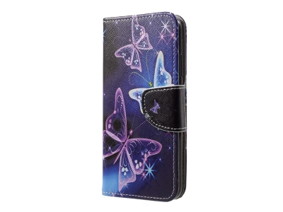 Калъф Тефтер Huawei P20 Lite - Vivid Butterflies