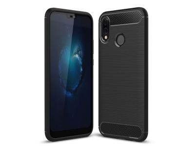 Силиконов гръб Carbon за Huawei P20 lite , Черен