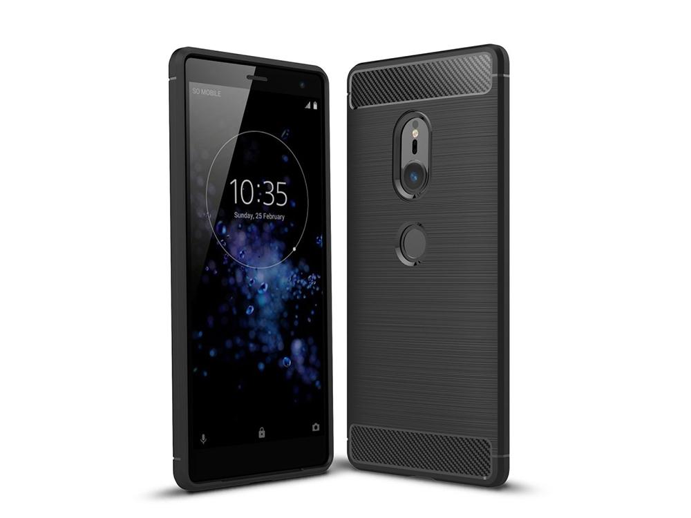 Силиконов Калъф Carbon за Sony Xperia XZ2 , Черен