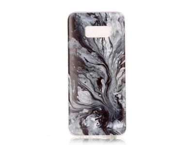 Силиконов гръб Marble - Samsung Galaxy S8 Plus G955 - Grey