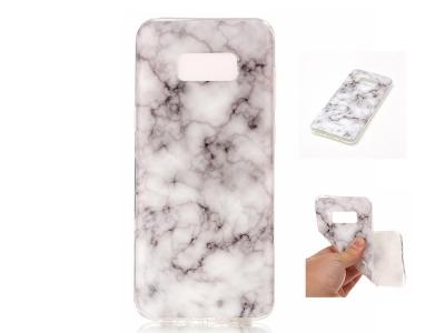 Силиконов гръб Marble за Samsung Galaxy S8 Plus 2017 G955, Бял/ Сив