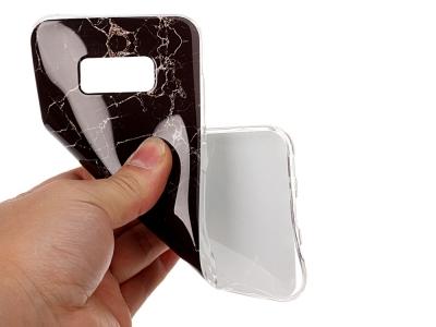 Силиконов гръб Marble за Samsung Galaxy S8 Plus 2017 G955 , Черен