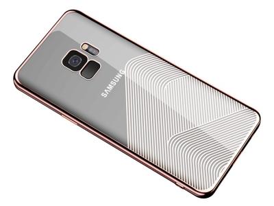 Силиконов гръб SULADA за Samsung Galaxy S9 2018 G960 , Розов/ Златист