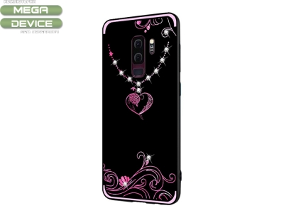 Силиконов гръб Rhinestone Decor - Samsung Galaxy S9 Plus G965 - Heart