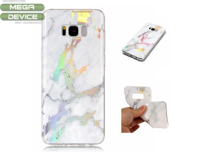 Силиконов гръб Marble за Samsung Galaxy S8 2017 G950, Бял