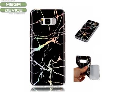 Силиконов гръб Marble за Samsung Galaxy S8 2017 G950, Черен