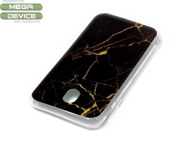 Силиконов гръб Marble за  Samsung Galaxy J7 2017 J730, Черен