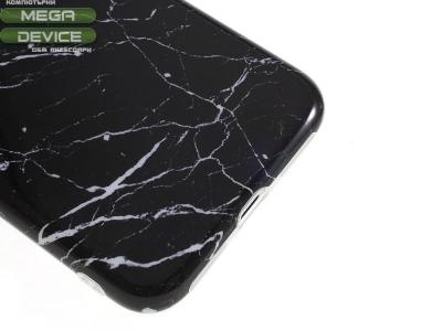 Силиконов гръб Marble за Iphone X, Черен