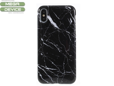 Силиконов гръб Marble - Iphone X - Black