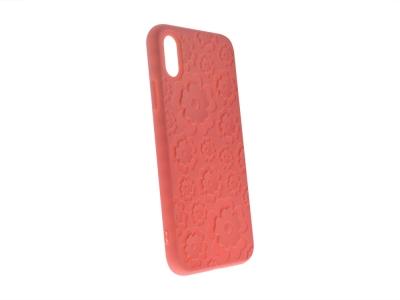 Силиконов гръб 3D Цветя за Iphone X , Розов