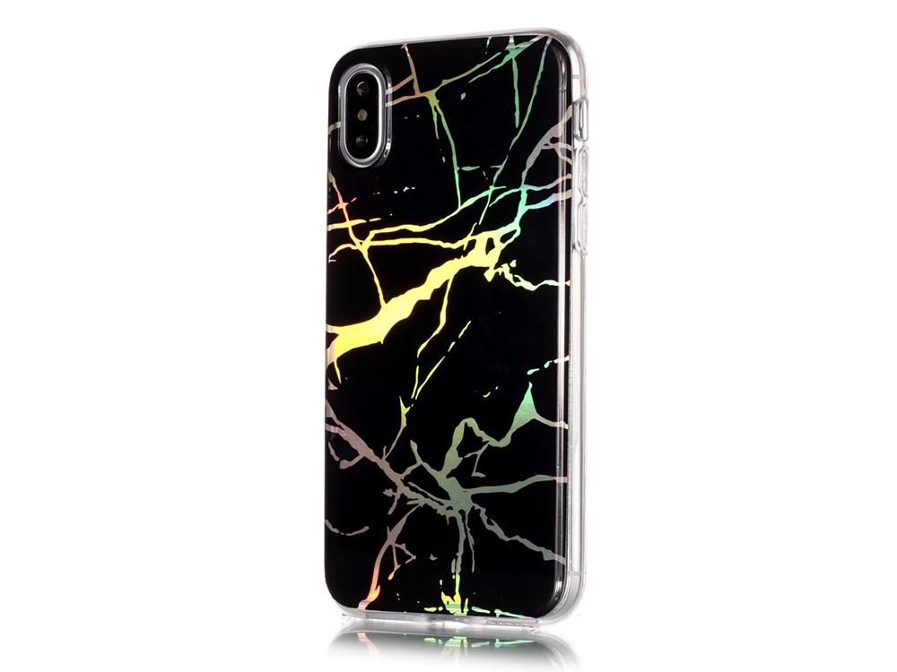 Силиконов гръб Marble за Iphone X , Черен