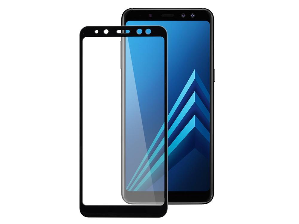Стъклен Протектор Glue 5D Curved за Samsung Galaxy A8 2018 A530, Черен