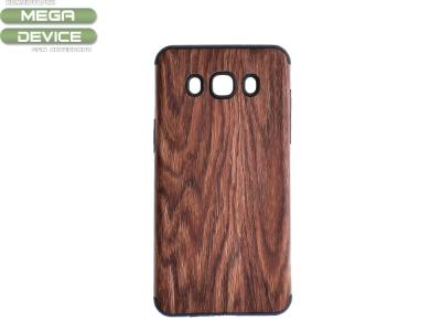 Силиконов Гръб WOOD за Samsung Galaxy J5 2016 J510, Тъмно дърво