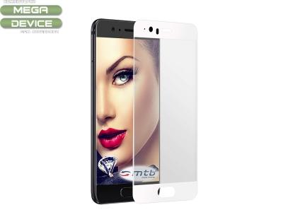 Стъклен Протектор Full за Huawei P10, Бял
