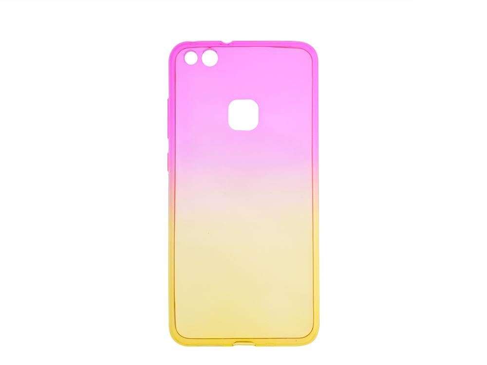 Силиконов гръб OMBRE за Huawei P10 Lite, Розов/ Златист
