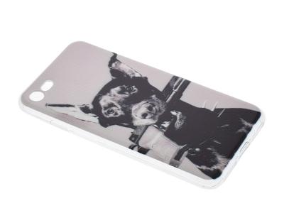 Силиконов гръб за iPhone 7 / 8 , Доберман