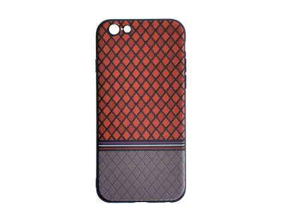 Силиконов Гръб Ромбоид за iPhone 6 / 6S, Червен