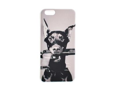 Силиконов гръб за iPhone 6 / 6S, Доберман