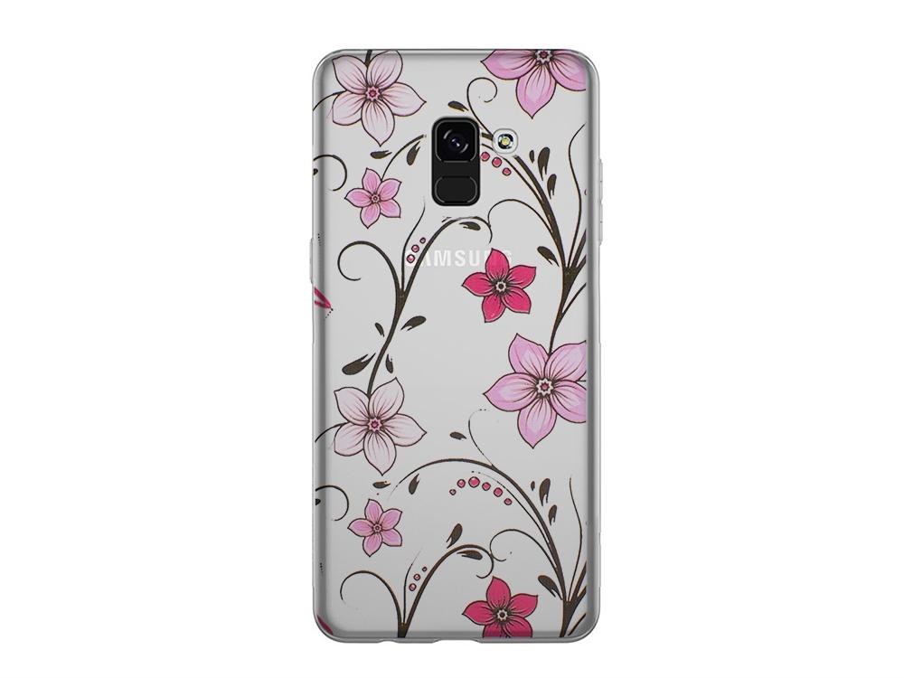 Силиконов гръб за Samsung Galaxy A5 2018 / A8 2018 A530, Розови цветя