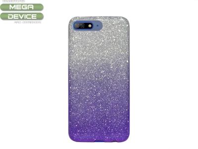 Калъф Гръб SHINING за Huawei Y7 2018 / Y7 Prime 2018, Сребрист/ Лилав