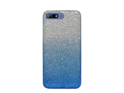 Калъф Гръб SHINING за Huawei Y7 2018 / Y7 Prime 2018, Сребрист/ Син