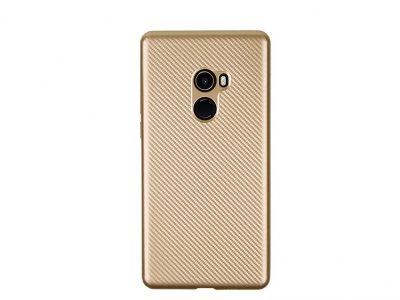 Силиконов гръб Carbon за Xiaomi Mi Mix 2, Златист