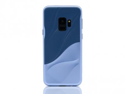 Удароустойчив гръб Hybrid за Samsung Galaxy S9 2018 G960, Тъмно син/ Светло син