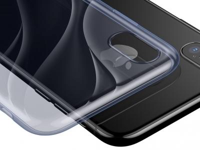 Силиконов Гръб BASEUS за iPhone X, Син