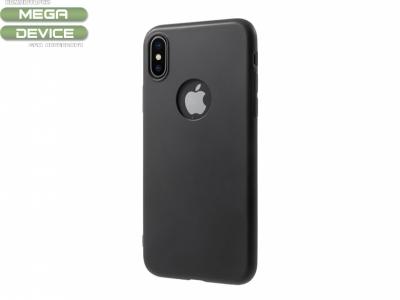 Силиконов Гръб Slim за iPhone X, Черен
