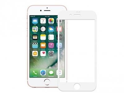 Стъклен протектор 5D Full Glue за Iphone 6 (4.7) ,Бял